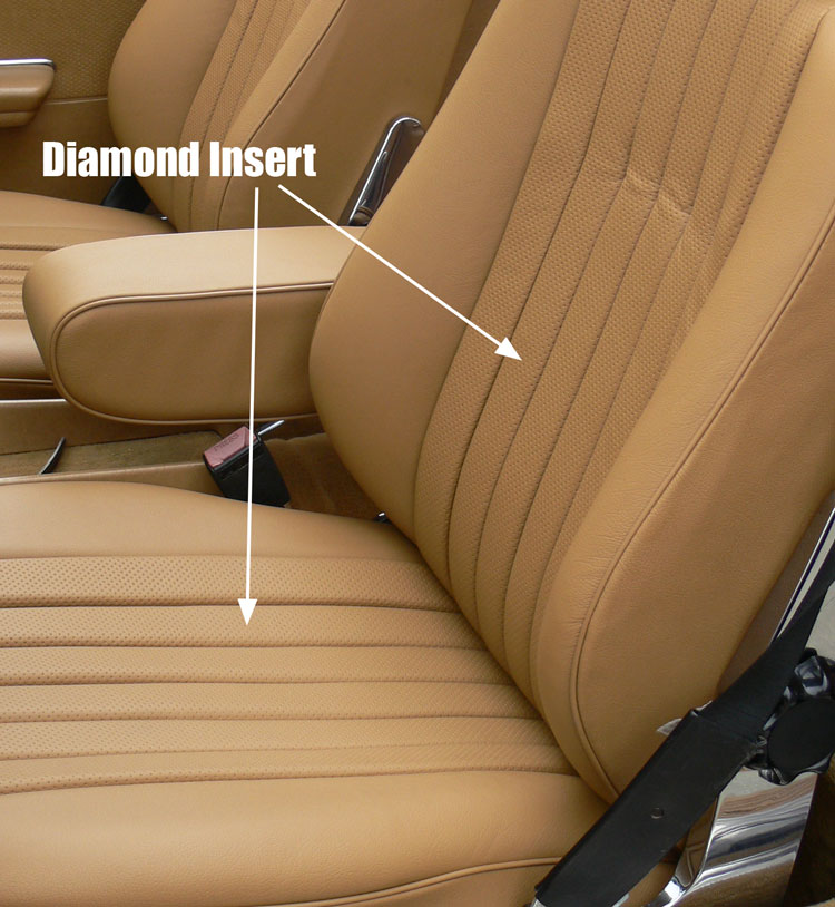 Mercedes sl roadster seat kit black leather with diamond for Mercedes benz replacement seat covers