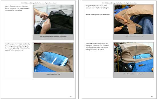 Mitsubishi Eclipse Convertible Top Installation Instructions