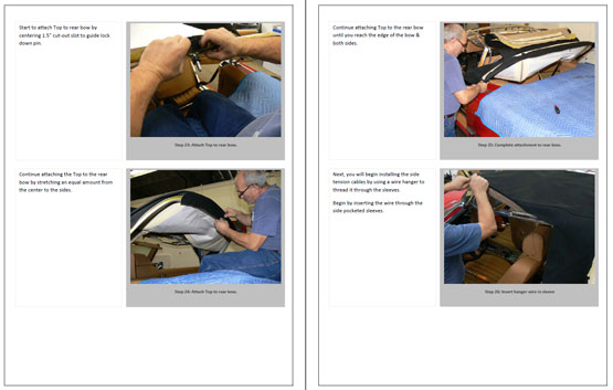 Mercedes SL Convertible Top Installation Instructions