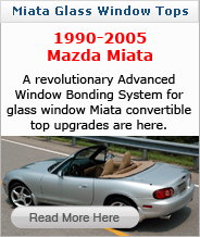 Miata Glass Window Convertible Top