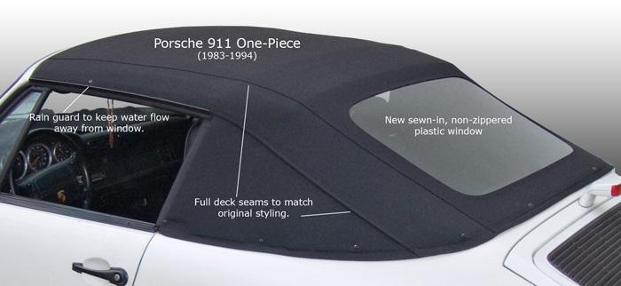 1983 1994 porsche 911 one piece convertible tops. Black Bedroom Furniture Sets. Home Design Ideas