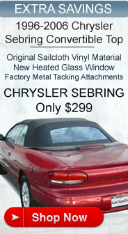 Chrysler Sebring Convertible Top Sale