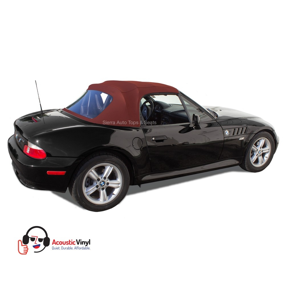 Bmw Z3 Top: BMW Z3 Convertible Top In Bordeaux Vinyl With Plastic Window