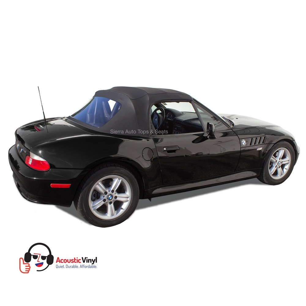 Bmw Z3 Black: BMW Z3 Convertible Top In Black Vinyl With Plastic Window