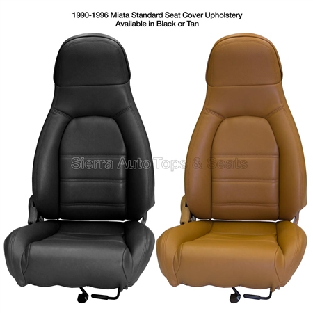 1990-1996 Mazda Miata Front Seat Cover Kit — Black or Tan
