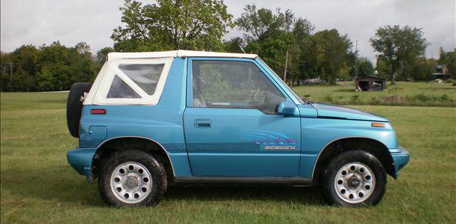 Suzuki Sidekick Chevy Geo Tracker Soft Top 86 94 In White Vinyl Clear Windows