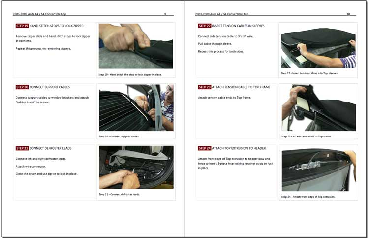Audi Convertible Top Installation Instructions