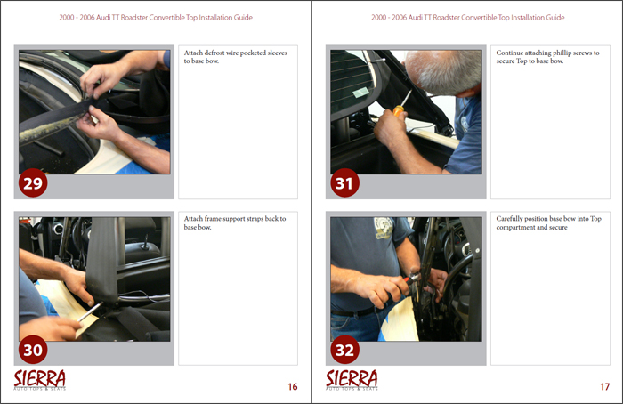 Audi TT Convertible Top Installation Instructions