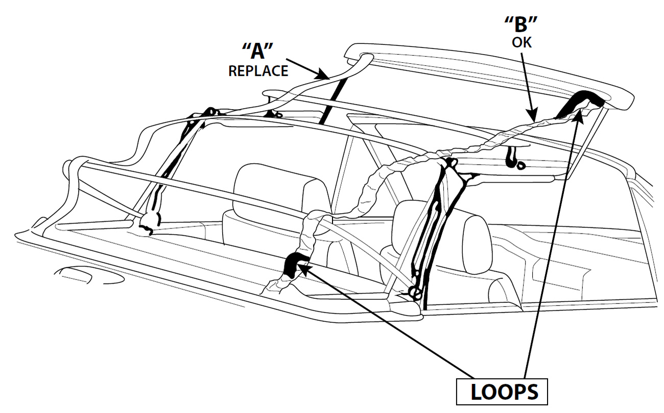 bmw 3 series pair of tension straps rh autotopsdirect com bmw z4 convertible top wiring diagram Convertible Top Motor
