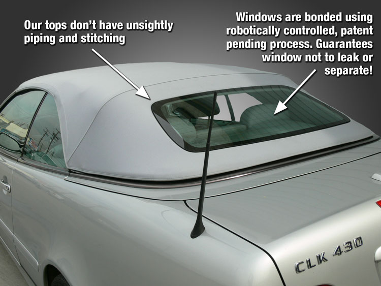 The Convertible Top Window Bonding System Provides An Exceptionally Clean Look And Has A 5 Year Warranty