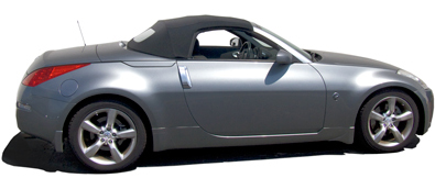 nissan 350z convertible black. convertible topping material options nissan 350z black