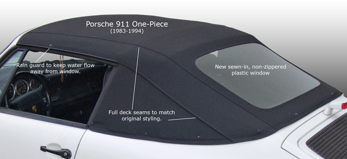 AutoTopsDirect 1983-1994 Porsche 911 One-Piece Convertible Top