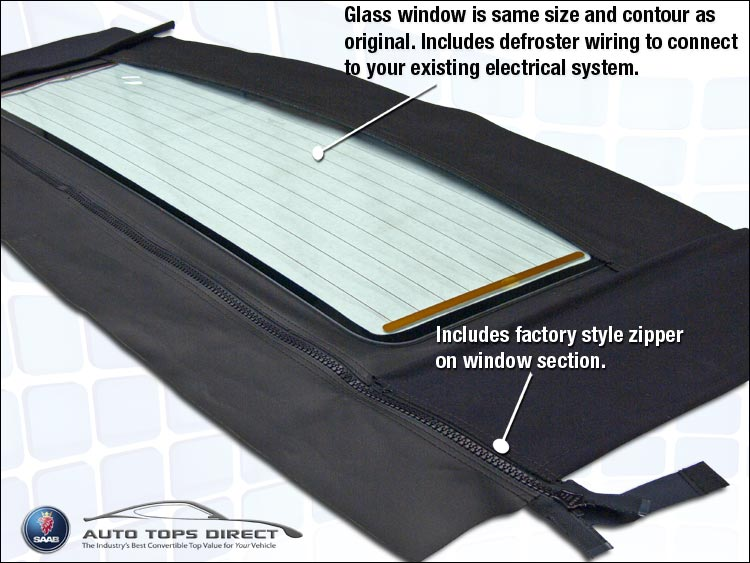 Saab Convertible Top Window