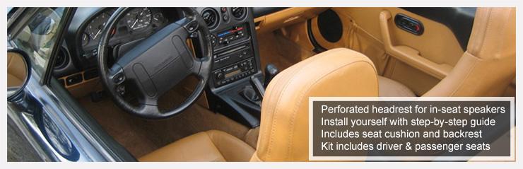 1990 1996 mazda miata front seat cover kit black or tan 1990 to 1996 miata replacement seat upholstery solutioingenieria Choice Image